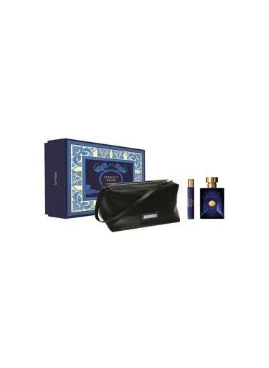 Versace Dylan Blue EDT 100 ml + EDT 10 ml + Çanta Erkek Parfüm Seti Renksiz